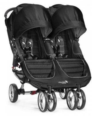 Carro gemelar City mini negro gris baby jogger
