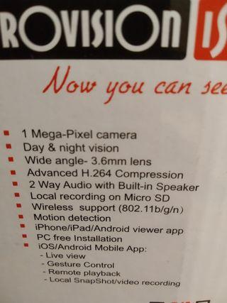 Videocámara visión nocturna-50€