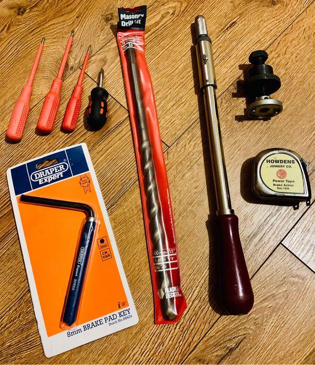 Set of work tools car builder Stanley draper