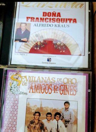 lote de 3 CD música sevillanas y zarzuelas.