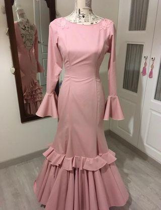 Traje de gitana rosa