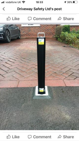 Driveway post secure feature