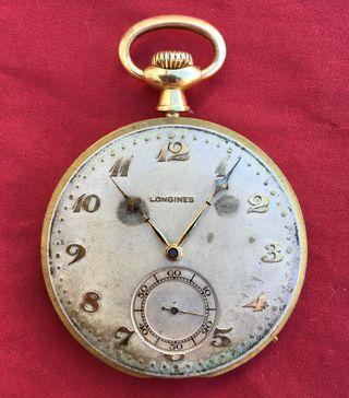 Antiguo reloj bolsillo longines 105529