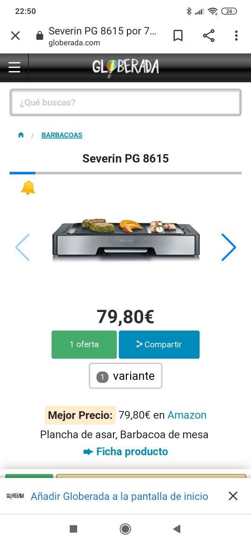 Plancha Grill 2400w Severin NUEVA
