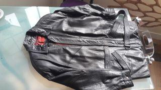 chaquetón de cuero vintage