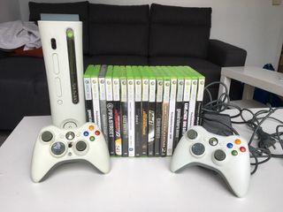 Xbox 360 con 19 juegos