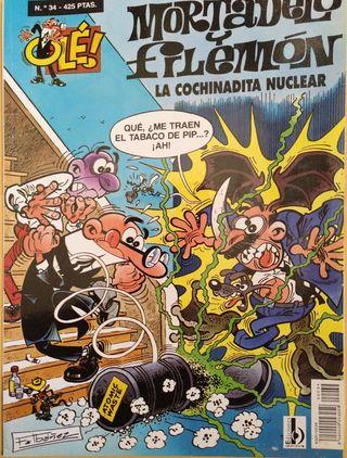 Cómic Mortadelo y Filemón, N° 34, Colección Ole!
