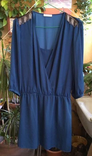 Vestido Azul Cobalto Oscuro