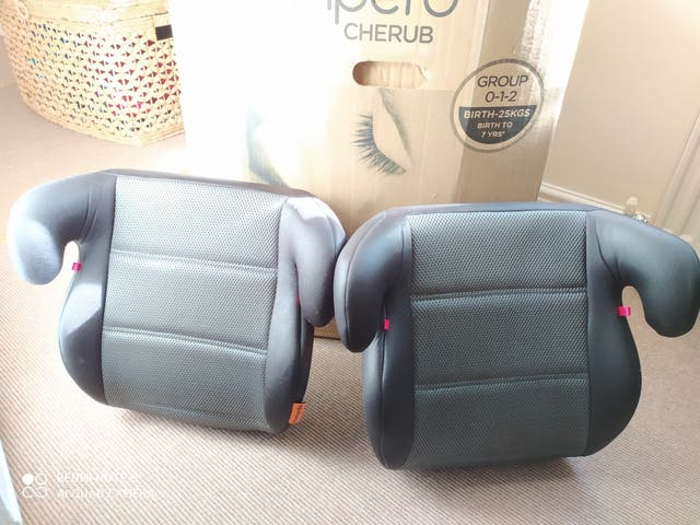 Pampero car seat and 2 boosters