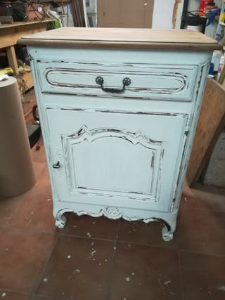 mueble provenzal francés de cerezo
