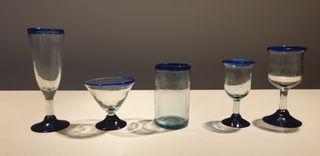 cristalería vidrio soplada artesanal La mexicana