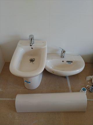 lavabo y bidé Roca sin estrenar.