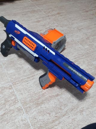 pistola nerf de valas de plastico