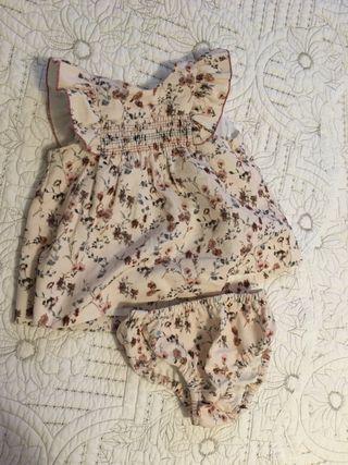 Vestido primaveral zara bebe 3-6m