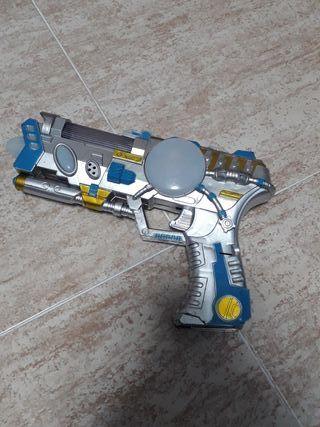 pistola de pilas