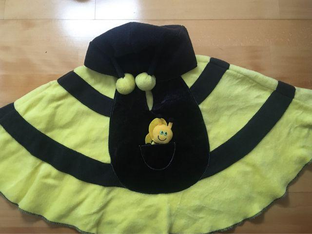 Disfraz bebé capa abeja forro polar