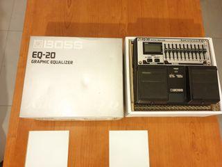 Pedal EQ 10 bandas para guit. o bajo BOSS EQ-20