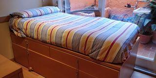 Colchón látex + colchón espuma