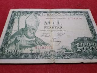 Billete de 1000 pesetas de 1965