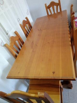 vendo mesa con sillas familiar esta casi nueva