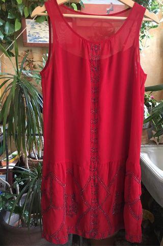 Vestido Rojo Carmesí estilo años 20