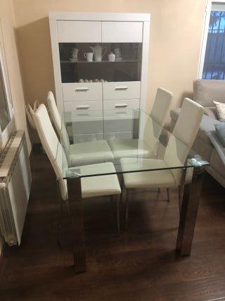 Mesa de comedor + juego de sillas