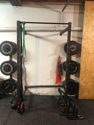 Rack crossfit calistenia pesas