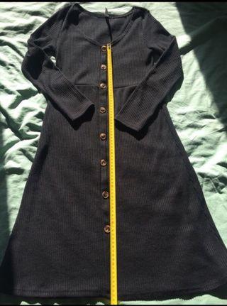 Vestido negro lana muy cómodo talla L