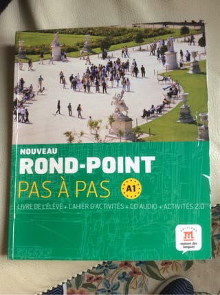 Libro francés Rond Point: pas a pas nivel A1