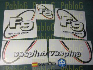 vespino F9 90's kit pegatinas vinilo serigrafia