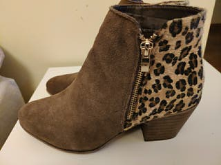 botín piel leopardo n38 sin uso