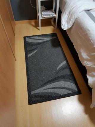 2 alfombras grises de dormitorio