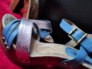 Sandalia de verano,azul