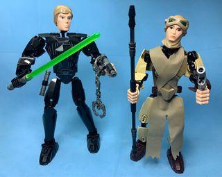 Figuras Lego Star Wars Luke y Rei