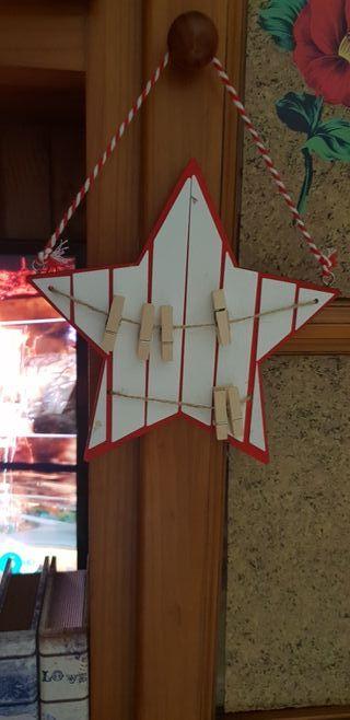 Colgador,de fotos Estrella