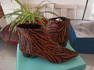 Botines leopardo piel sintética Maripaz
