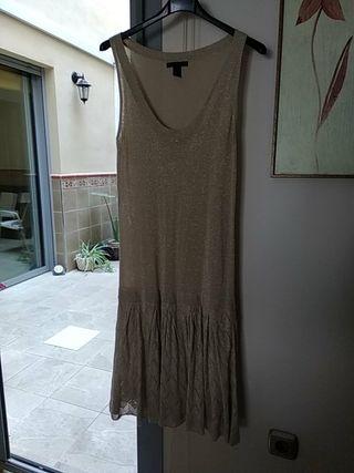 vestido estilo Velvet años 20 Mango L una puesta