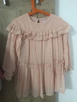 Vestido Zara gasa