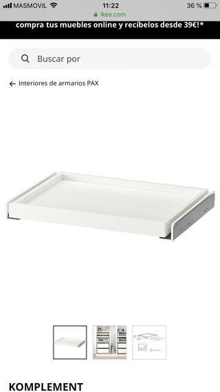 BANDEJA EXTRAIBLE ARMARIO PAX IKEA (7 UNIDADES)