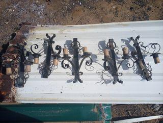 lamparas de pared de forja