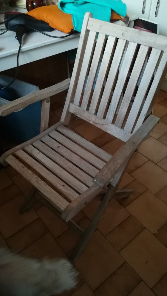 sillas de madera teka plegables