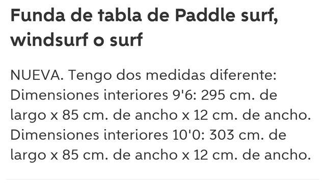 Funda de sup, paddle surf o windsurf.