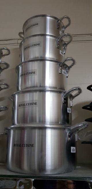 Royal Cuisine 10Pcs Aluminium Cookware Set