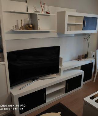 Mueble apilable para salón blanco y negro