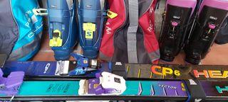 2 equipos de esquí