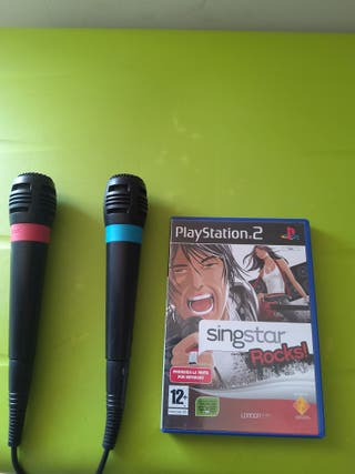 microfonos karaoke ps2 con singstar rock