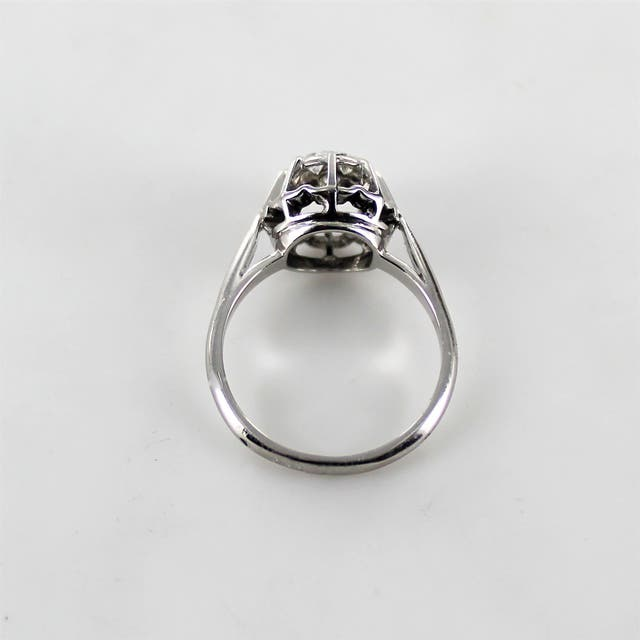ANILLO ORO BLANCO 18 K BRILLANTES 0.30 CT