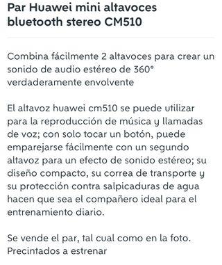 Par Huawei mini altavoces bluetooth stereo CM510