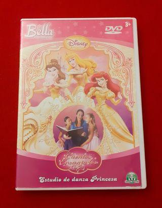 """DVD """"ESTUDIO DE DANZA PRINCESA """" de Disney."""