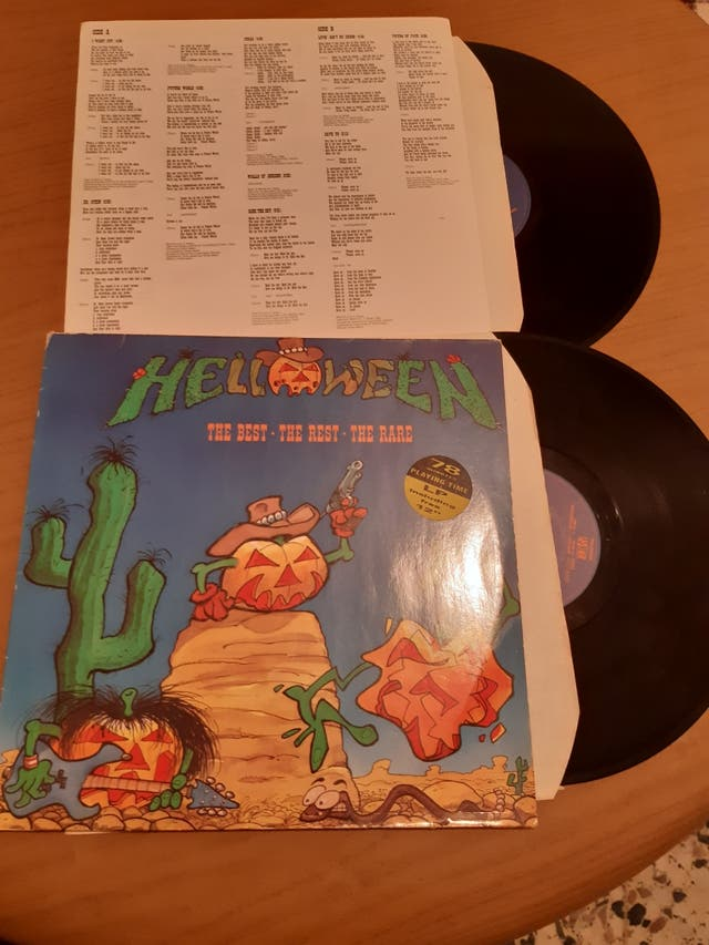 Lote 3 titulos vinilos Helloween